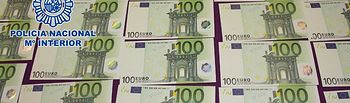 La Policía Nacional estrecha el cerco sobre las falsificaciones de billetes de euro. Foto: Ministerio del Interior