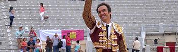 """Manuel Jesús, """"El Cid"""", el gran triunfador en la corrida de ASPRONA de este domingo, 8 de junio, en Albacete."""