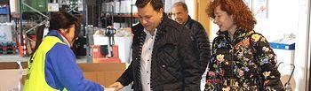 Visita a las instalaciones del Banco de Alimentos  en la Lonja Municipal