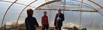 El delegado de Educación, Cultura y Deportes visita en instituto Aguas Vivas para conocer los daños ocasionados por el fuego.