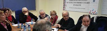 Reunión de Emilio  Sáez con FAVA.