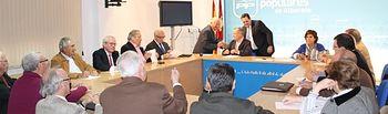 Reunión en la sede provincial del PP.