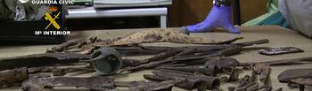 La Guardia Civil interviene más de 2.000 objetos arqueológicos procedentes de expolios en yacimientos. Foto: Ministerio del Interior