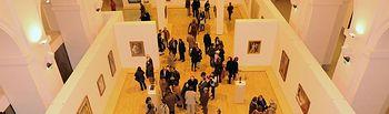 Vista de la exposición El arte del desnudo desde la primera planta del Centro Cultural CCM San Marcos