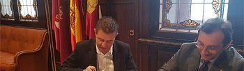 Firma contrato Diputación-Globalcaja.