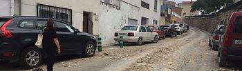 Consecuencias de la tromba de agua caída en Cuenca.