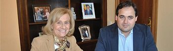 Carmen Bayod y Francisco Núñez firman un convenio por valor de un millón de euros dentro del 'Dipualba Invierte' para obras de mejora en la capital