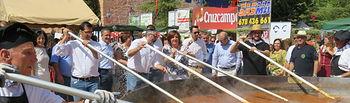 Villanueva de los Infantes intenta batir el recórd guiness del pisto más grande. Foto: JCCM.