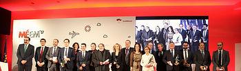 El presidente regional, Emiliano García-Page, preside, en el Conservatorio 'Marcos Redondo' de Ciudad Real, la gala de entrega de los II Premios al Mérito Empresarial de Castilla-La Mancha. (Fotos: José Ramón Márquez // JCCM)