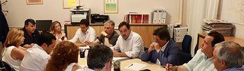 Paco Núñez mantiene una reunión con el grupo provincial popular en la Diputación de Ciudad Real.