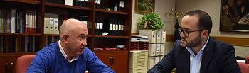 El vicepresidente de la Diputación de Albacete, Francisco Valera, y alcalde de Chinchilla de Montearagón, Francisco Morote.