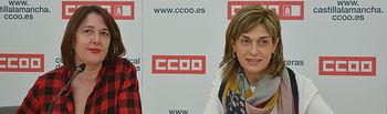 Carmen Juste, secretaria general de CCOO Albacete, junto a Paqui Jiménez. secretaria provincial de empleo y formación de CCOO Albacete.