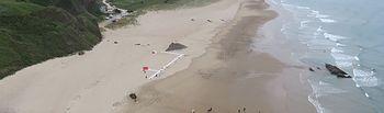simulacro lucha contaminación playa de Xagó.. Foto: Ministerio de Agricultura, Alimentación y Medio Ambiente