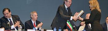 Entrega del I Premio Gerardo de Cremona en noviembre de 2015.