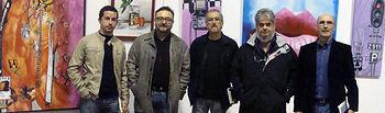Foto de grupo con Antonio Cabrera (centro)