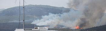 17 medios aéreos y 4 Brigadas de especialistas en extinción del Ministerio de Agricultura Alimentación y Medio Ambiente trabajan en el incendio de Artana en Castellón. Foto: Ministerio de Agricultura, Alimentación y Medio Ambiente