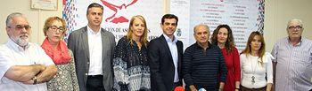 Rueda de prensa celebrada en la sede de la Federación de Asociaciones de Vecinos de Albacete (FAVA).
