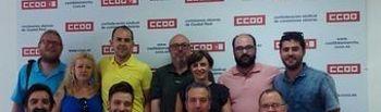 Parte de la nueva ejecutiva de CCOO Industria CLM