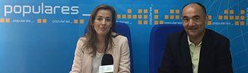 Carmen Navarro, Diputada Nacional, Valentín Bueno, Senador y Presidente del PP de Villarrobledo.