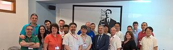 Foto de grupo de los participantes en el encuentro.