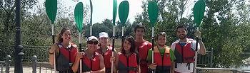 Participantes en el primer curso de piragüismo promovido por las facultades talaveranas.
