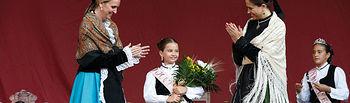 Carmen Casero participa en los actos de La Pandorga I. Foto: JCCM.