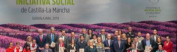 El presidente de Castilla-La Mancha, Emiliano García-Page, ha entregado hoy, en el Teatro Buero Vallejo de Guadalajara, los reconocimientos a la 'Iniciativa Social 2019'. (Fotos: A. Pérez Herrera // JCCM).