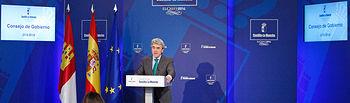Leandro Esteban informa de los acuerdos adoptados en Consejo de Gobierno III. Foto: JCCM.