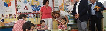 Visita de la consejera de Educación, Cultura y Deporte, Rosa Ana Rodríguez, al colegio San Antón. Foto: Manuel Lozano Garcia / La Cerca