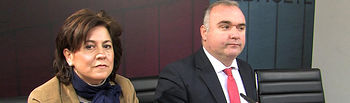 Mª Carmen Álvarez, diputada provincial de Turismo, junto a Constantino Berruga, vicepresidente de la Diputación Provincial de Albacete.