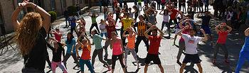 Una de las actividades celebradas hoy en el Campus de Toledo con motivo del Día Mundial de la Actividad Física y el Deporte.