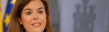 Soraya Saénz de Santamaría, en una imagen de archivo.