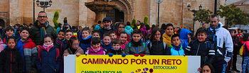 500 escolares de Valdepeñas se suman a la marcha contra la obesidad infantil.