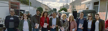 El cabeza de lista por el PSOE en la provincia de Albacete, al Congreso de los Diputados, Manuel González Ramos, en Valdeganga.