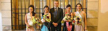 Gutiérrez con la Reina y Damas