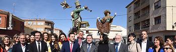 Emiliano García-Page en el acto de inauguración de la rehabilitación de la Casa de Cultura de Tarazona de La Mancha (Albacete)