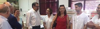 Visita al Punto de Atención de Urgencias Médicas de la Feria de Albacete. Foto: JCCM.