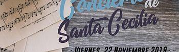 Cartel Concierto Santa Cecilia 2019.