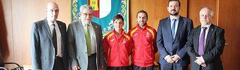 El Gobierno de Castilla-La Mancha felicita a los karatecas castellano-manchegos Sandra Sánchez y Matías Sánchez García. Foto: JCCM.