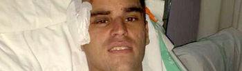Rubén Pinar se recupera en el Hospital General Universitario de Albacete.