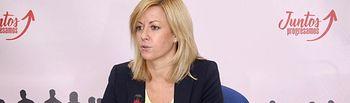 Ana Isabel Abengózar, portavoz del PSOE en las Cortes regionales.