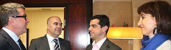 Javier Cuenca durante la visita a la empresa Tecon.