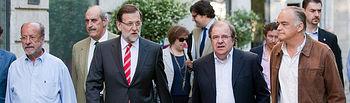Mariano Rajoy, Juan Vicente Herrera y Esteban González Pons en Valladolid