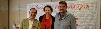 Pablo Bellido, Magdalena Valerio y Rafael Esteban.