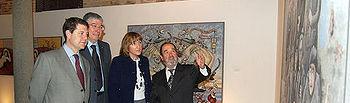 Ángeles García durante la inauguración de la exposición
