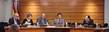 Comisión de Economía y Presupuestos en las Cortes de Castilla-La Mancha.