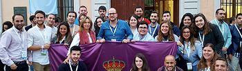 Delegación de NNGG Guadalajara en el X Congreso Regional de la organización junto a Ana Guarinos y Lorenzo Robisco.