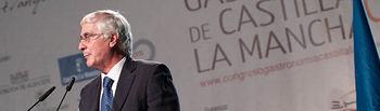 José María Barreda, presidente de Castilla-La Mancha, durante la inauguración del I Congreso de Gastronomía de Castilla-La Mancha.
