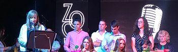 Mercedes Márquez asiste al pregón de las fiestas de Peñascosa