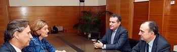 El director general de la Función Pública y Justicia de Castilla-La Mancha, Francisco Ferrero Casillas se reune con Colegio Notarios. Foto: JCCM.